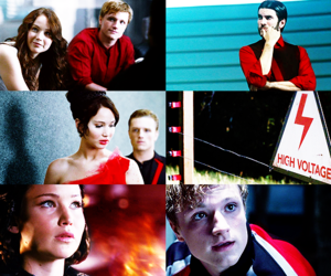hunger games, peeta mellark, and katniss everdeen image