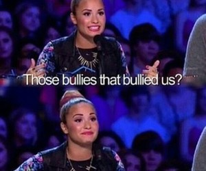 demi lovato, bullying, and bullied image