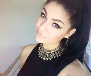 andrea russett, hair, and youtuber image