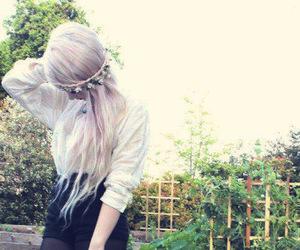 hair, grunge, and pastel goth image