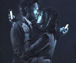 BANKSY, art, and phone image