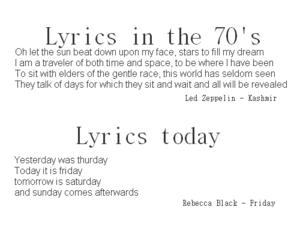 Lyrics, 70s, and true image