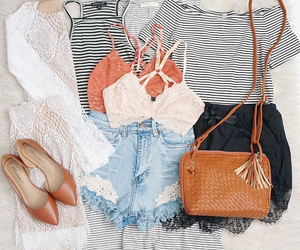 outfits, bag, and fashion image