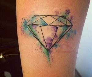 tattoo, diamond, and colors image