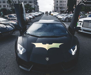 batman, car, and black image