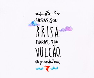 horas, frase, and vulcao image