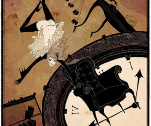alice in wonderland, falling, and somefield image