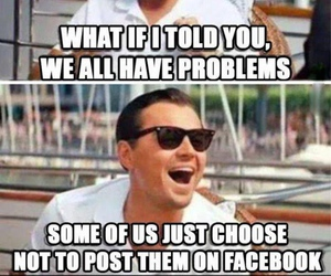 facebook, funny, and problem image