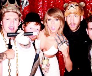 Taylor Swift, ed sheeran, and calvin harris image