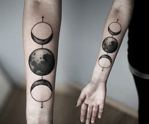 tattoo, moon, and grunge image