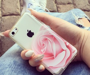 iphone, case, and rose image