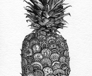 pineapple, drawing, and art image