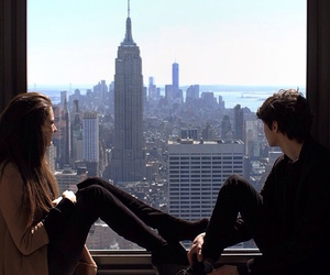 paper towns, nat wolff, and cara delevinge image