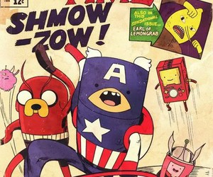 adventure time, Avengers, and JAKe image