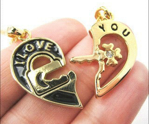 necklace and love image