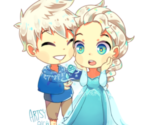 frozen, jelsa, and jack frost image