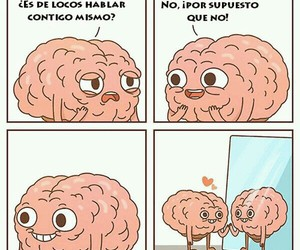 brain, funny, and comic image