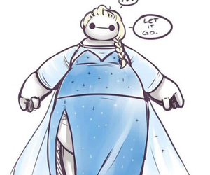 frozen, big hero 6, and baymax image