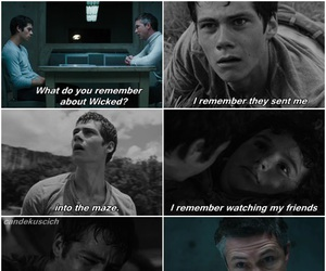 maze runner, dylan o'brien, and book image