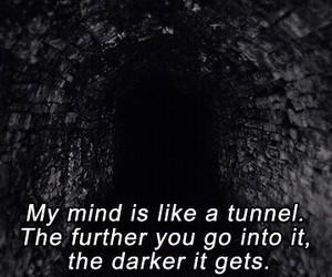 dark, sad, and mind image