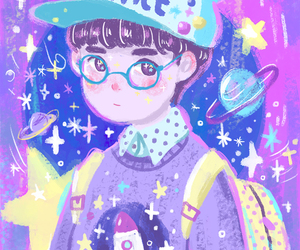 boy, space, and cute image