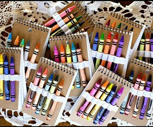 art, colorful, and crayons image