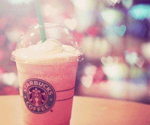starbucks, pink, and coffee image
