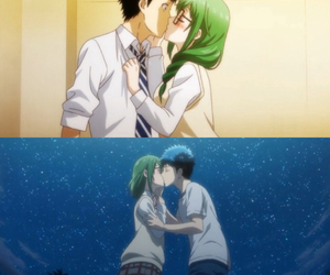 anime, kiss, and love image