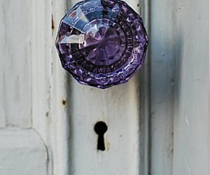 door, purple, and vintage image