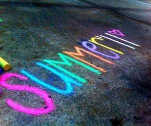 summer, chalk, and colors image
