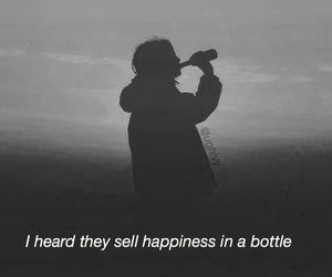 happiness, sad, and bottle image