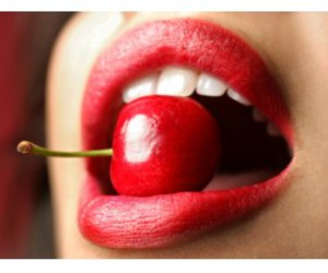 cherry, Hot, and lips image