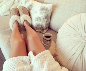 coffee, ugg, and cozy image