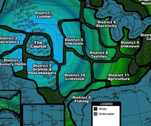 map, the hunger games, and hunger games image