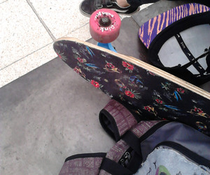 hipster, longboard, and nike image