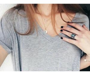 fashion, girl, and grey image