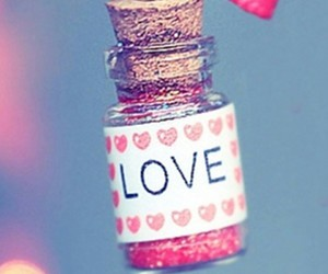 love and bottle image