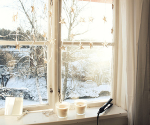 cups, snow, and window image