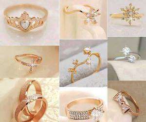 jewelry, rings, and crystal rings image