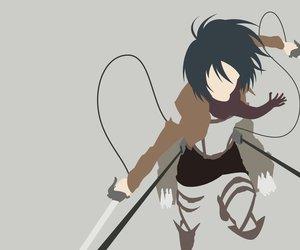 anime, minimalist, and attack on titan image