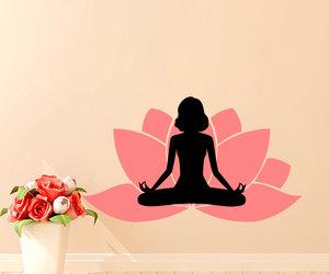 Buddha, home decor, and lotus flower image