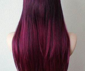 beauty, ombre, and burgundy image
