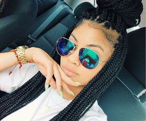 girl, braid, and box braids image
