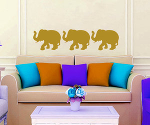 home decor, indian elephant, and murals image