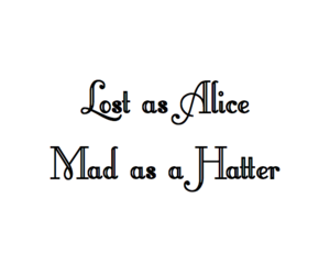 alice, book, and hatter image