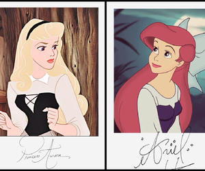 ariel, princess, and aurora image