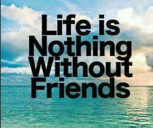friends, life, and nothing image