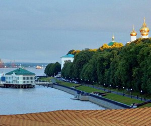 cathedral, russia, and river image