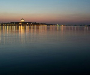 city, sunset, and yaroslavlrussia image