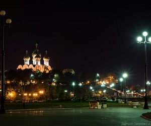 cathedral, lights, and russia image